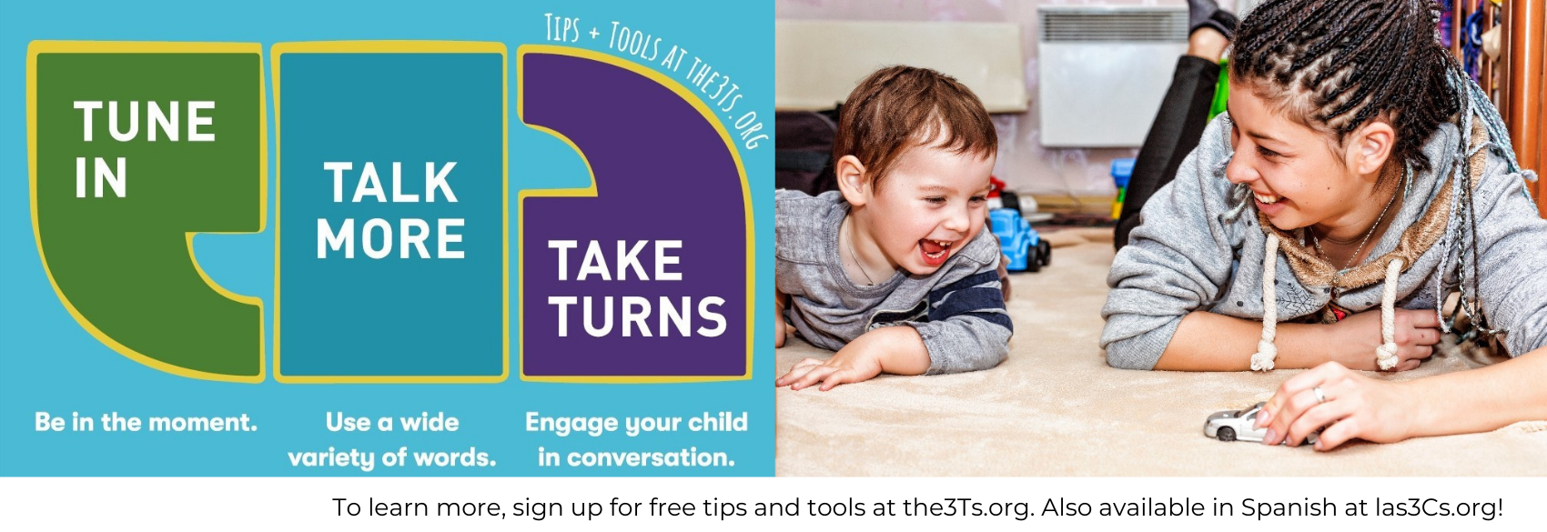 To learn more, sign up for free tips and tools at the3Ts.org. Also available in Spanish at las3Cs.org!