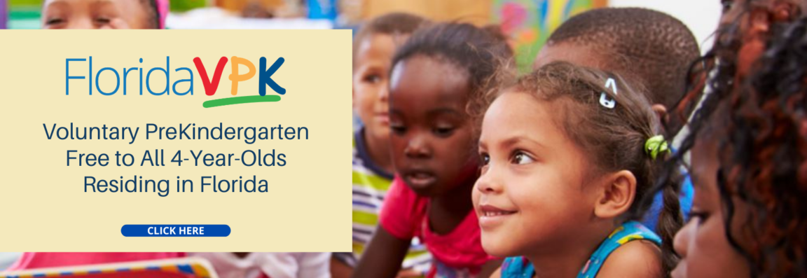 VPK free to all 4-year-olds residing in Florida.